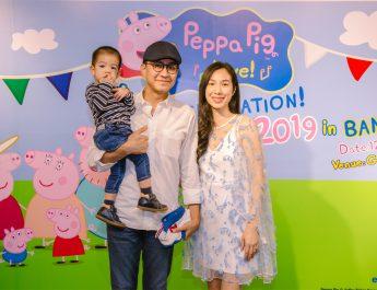 """""""ครอบครัวดารา"""" พร้อมใจต้อนรับ """"เปปป้าพิก"""" พี่หมูสีชมพู ร่วมชม PEPPA PIG LIVE CELEBRATION 2019 IN BANGKOK ก่อนใคร"""