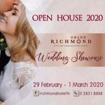"""ส่งท้ายเดือนแห่งความหวาน..ที่ทุกคู่รักห้ามพลาด !!! กับงาน """" OPEN HOUSE 2020..WEDDING SHOWCASE"""" ระหว่างวันที่ 29 February – 1 March 2020"""